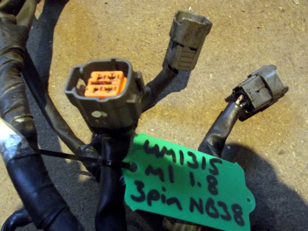 wiring harness fuel injector loom mazda mx 5 mk1 1 8 3 pin coil used wiring harness fuel injector loom mazda mx 5 mk1 1 8 3